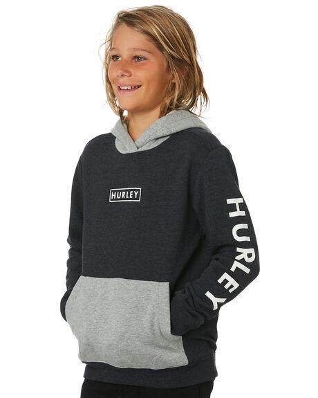 HEATHER BLACK KIDS BOYS HURLEY JUMPERS + JACKETS - CJ0715032