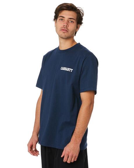 BLUE WHITE MENS CLOTHING CARHARTT TEES - I02480601
