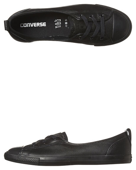 b9b3f8b31a8 Converse Ballet Lace Leather Slip Shoe - Black