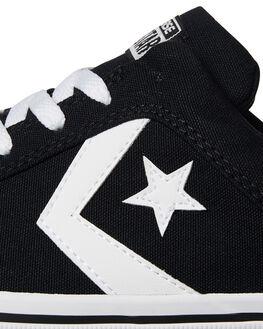 BLACK WHITE MENS FOOTWEAR CONVERSE SKATE SHOES - 155064BLK