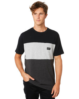 BLACK MENS CLOTHING RIP CURL TEES - CTEQY20090