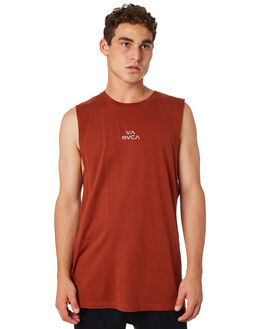 RUST MENS CLOTHING RVCA SINGLETS - R181012RUST