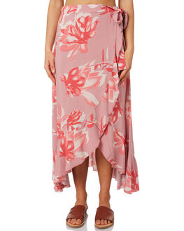 PINK FLORAL WOMENS CLOTHING ELWOOD SKIRTS - W93613EO9