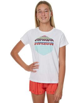 WHITE KIDS GIRLS RIP CURL TEES - JTECL11000