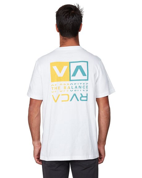 WHITE MENS CLOTHING RVCA TEES - RV-R107045-WHT