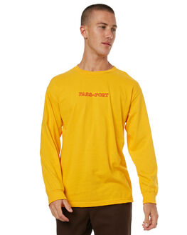 GOLD MENS CLOTHING PASS PORT TEES - BRICKEMBGOLD