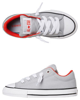 WOLF GREY KIDS BOYS CONVERSE SNEAKERS - 665136CWGRY