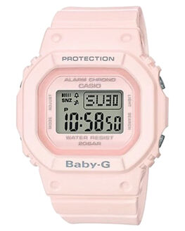 POWDER PINK WOMENS ACCESSORIES BABY G WATCHES - BGD560-4DPNK