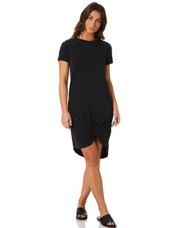 WASHED BLACK WOMENS CLOTHING SILENT THEORY DRESSES - 6008016WBLK
