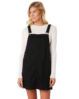 BLACK DENIM WOMENS CLOTHING O'NEILL PLAYSUITS + OVERALLS - 5321601BKD
