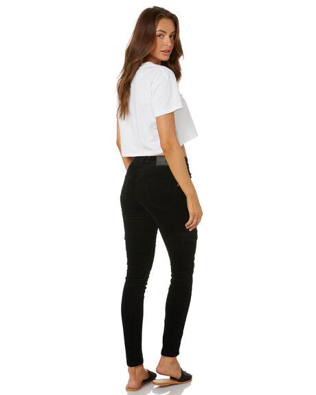 BLACK WOMENS CLOTHING RUSTY PANTS - PAL1107BLK