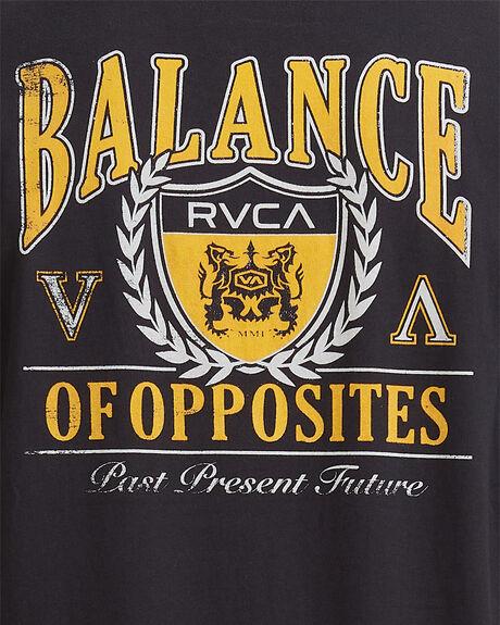 WASHED BLACK MENS CLOTHING RVCA TEES - R115041-WBK