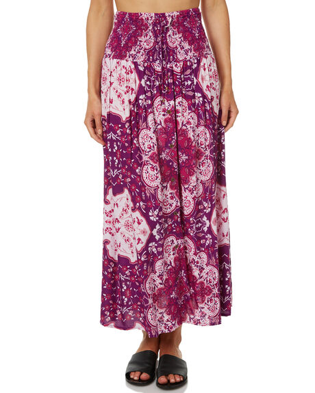 PURPLE WOMENS CLOTHING RIP CURL SKIRTS - GSKZY30037