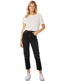 BLACK STONE WOMENS CLOTHING NUDIE JEANS CO JEANS - 113153BLK