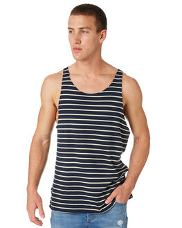 NAVY OUTLET MENS SWELL SINGLETS - S5182278NAVY