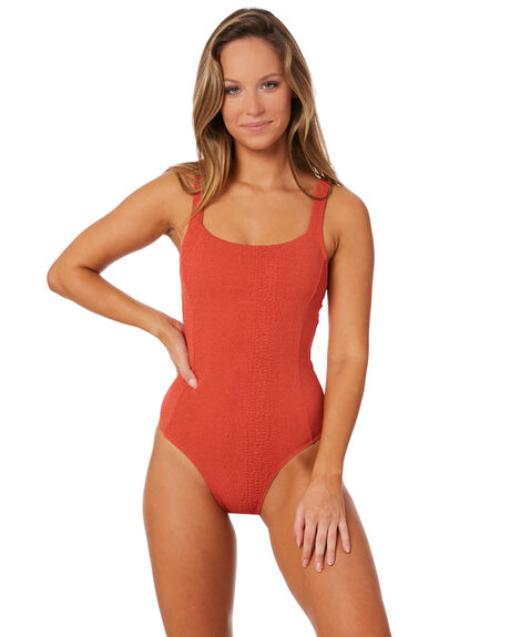 ROSO RED WOMENS SWIMWEAR THE HIDDEN WAY ONE PIECES - H8182333RSORD