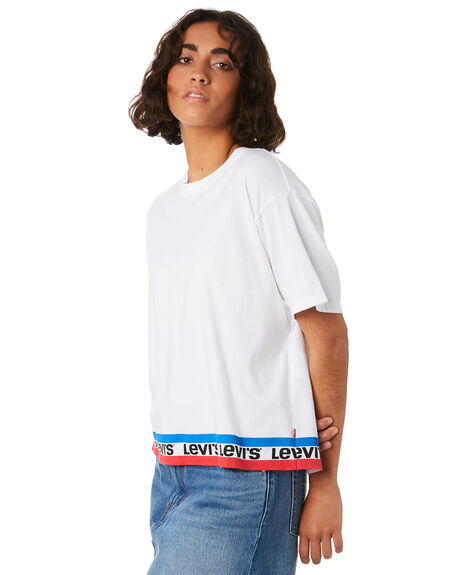 TAPE WHITE WOMENS CLOTHING LEVI'S TEES - 39389-0028TPWHT