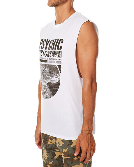 WHITE MENS CLOTHING AFENDS SINGLETS - 01-05-120WHT