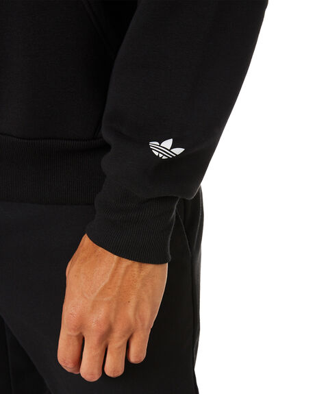BLACK MENS CLOTHING ADIDAS JUMPERS - GL9927BLK