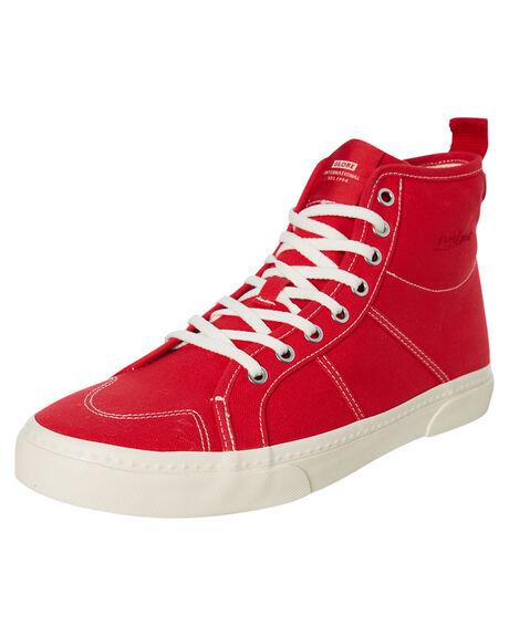 RED CANVAS MENS FOOTWEAR GLOBE SNEAKERS - GBLAII29021