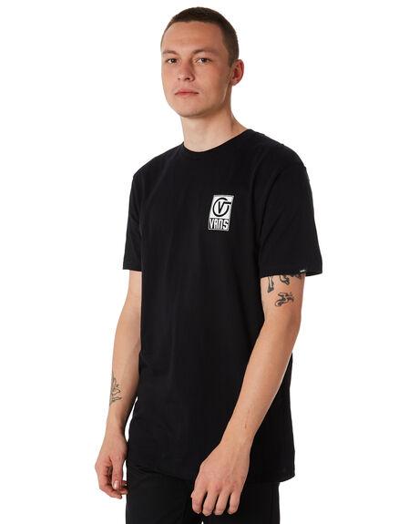 BLACK MENS CLOTHING VANS TEES - VNA3HA9BLKBLK