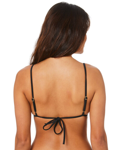 BLACK WOMENS SWIMWEAR TIGERLILY BIKINI TOPS - T334613BLK