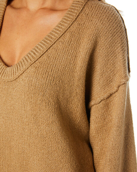 DESERT CAMEL WOMENS CLOTHING FREE PEOPLE KNITS + CARDIGANS - OB11538571020