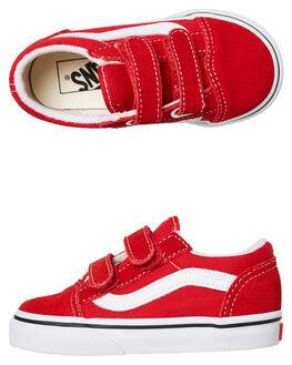 RACING RED KIDS BOYS VANS FOOTWEAR - VNA38JNJV6