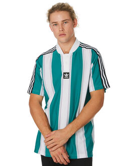 GREEN WHITE PURPLE MENS CLOTHING ADIDAS TEES - DU3927GRNWH