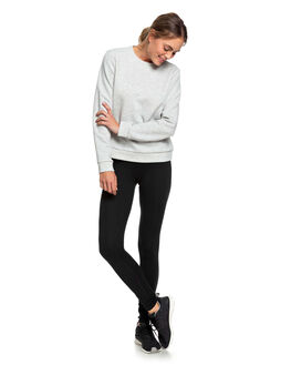 HERITAGE HEATHER WOMENS CLOTHING ROXY JUMPERS - ERJFT04048-SGRH