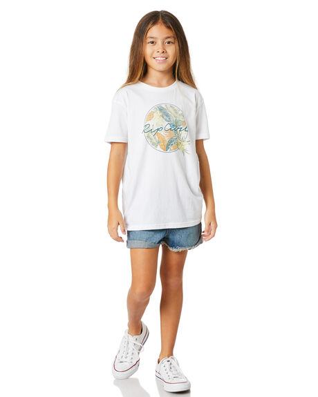 WHITE KIDS GIRLS RIP CURL TOPS - JTEEW11000