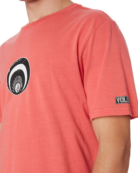 DUSTY RED MENS CLOTHING VOLCOM TEES - A5241900DSR