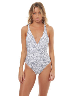 NAVY PAISLEY WOMENS SWIMWEAR ALL ABOUT EVE ONE PIECES - 6406037NVY