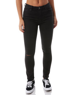 FADED BLACK WOMENS CLOTHING THRILLS JEANS - WTDP-403FBFBLK