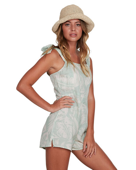GREEN WOMENS CLOTHING BILLABONG PLAYSUITS + OVERALLS - BB-6504521-GRN
