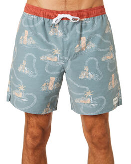 NAVY MENS CLOTHING RHYTHM BOARDSHORTS - NOV18M-SS06-NAV