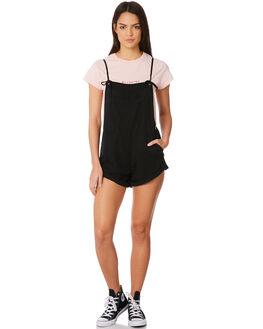 BLACK WOMENS CLOTHING BILLABONG PLAYSUITS + OVERALLS - 6572501BLK