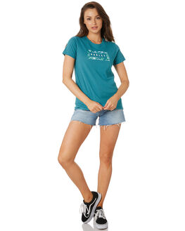 MINERAL TEAL WOMENS CLOTHING HURLEY TEES - CI0920322