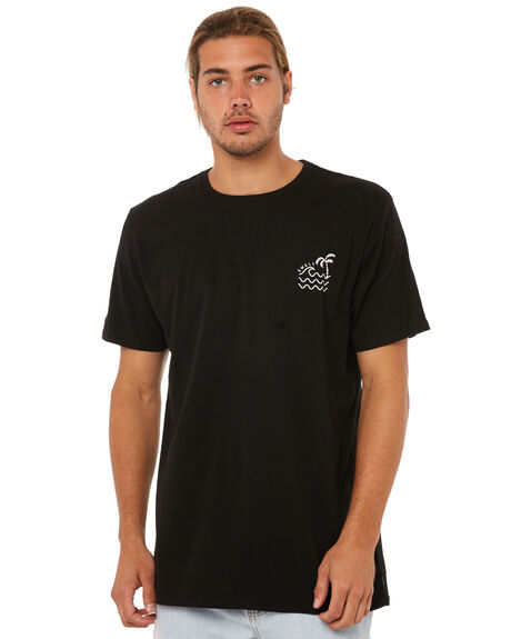 BLACK MENS CLOTHING SWELL TEES - S5183000BLACK