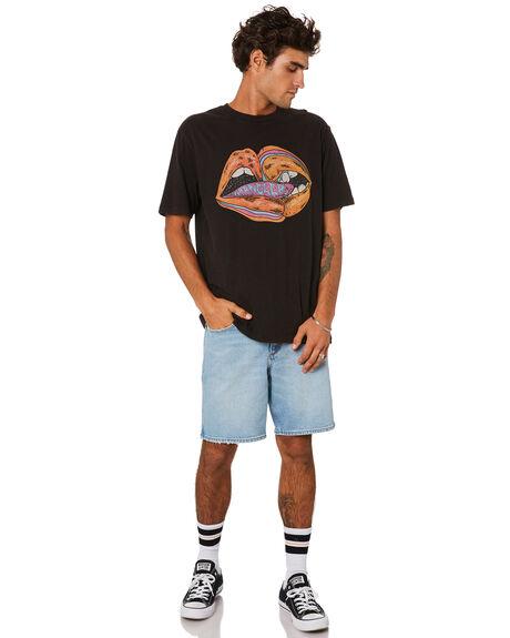 MYSTIFY BLUE MENS CLOTHING WRANGLER SHORTS - W-901998-PWI