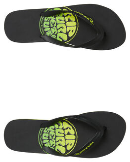BLACK GREEN MENS FOOTWEAR RIP CURL THONGS - TCTA540091