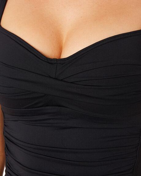 BLACK WOMENS SWIMWEAR SEA LEVEL AUSTRALIA BIKINI TOPS - SL3027PBLK