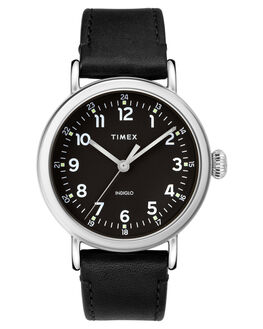 BLACK SILVER MENS ACCESSORIES TIMEX WATCHES - TW2T20200BLKSI
