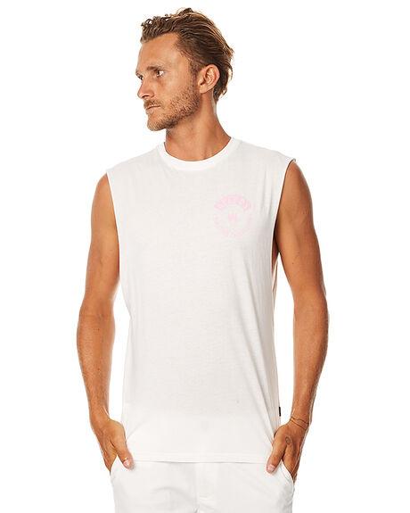 NATURAL MENS CLOTHING AFENDS SINGLETS - 01-05-106NAT