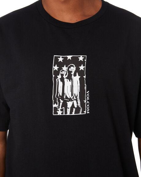 BLACK MENS CLOTHING VOLCOM TEES - A3532007BLK