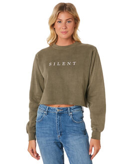 KHAKI WOMENS CLOTHING SILENT THEORY JUMPERS - 6033009-KHAK