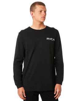 BLACK MENS CLOTHING RVCA TEES - R161098BLK
