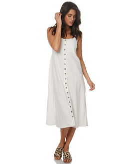 WHITE LINEN WOMENS CLOTHING SAINT HELENA DRESSES - SH2A140CWHTL