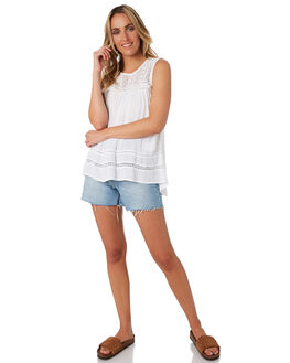 WHITE WOMENS CLOTHING RIP CURL FASHION TOPS - GSHGG11000