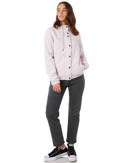 LIGHT PURPLE WOMENS CLOTHING VOLCOM JACKETS - B1511800LPU